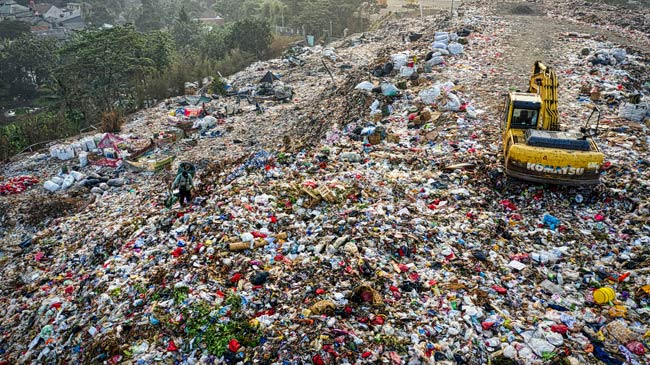 dump site with garbage